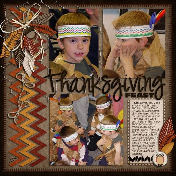 A Project by MaryinAZ from our Scrapbooking Gallery originally submitted 11/21/11 at 09:14 PM - thanksgiving chevron