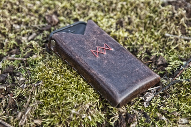 Handmade Leather iPhone Holster by The CLAW. $55.00, via Etsy.
