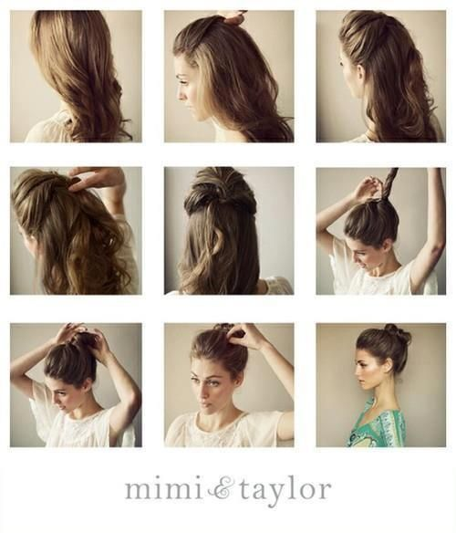 pinner says: I had to try this style before I pinned it, it took 5 min, is very easy (even though my hair is shorter), and looks great!