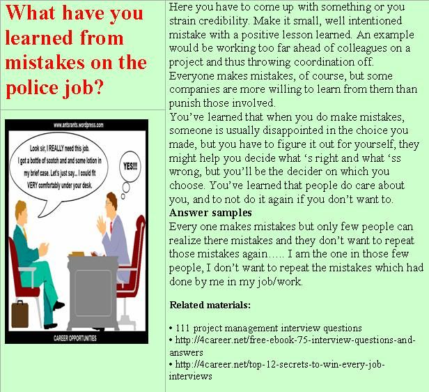 16 best police panel interview questions images on pinterest what have you learned from mistakes on the police job fandeluxe Image collections