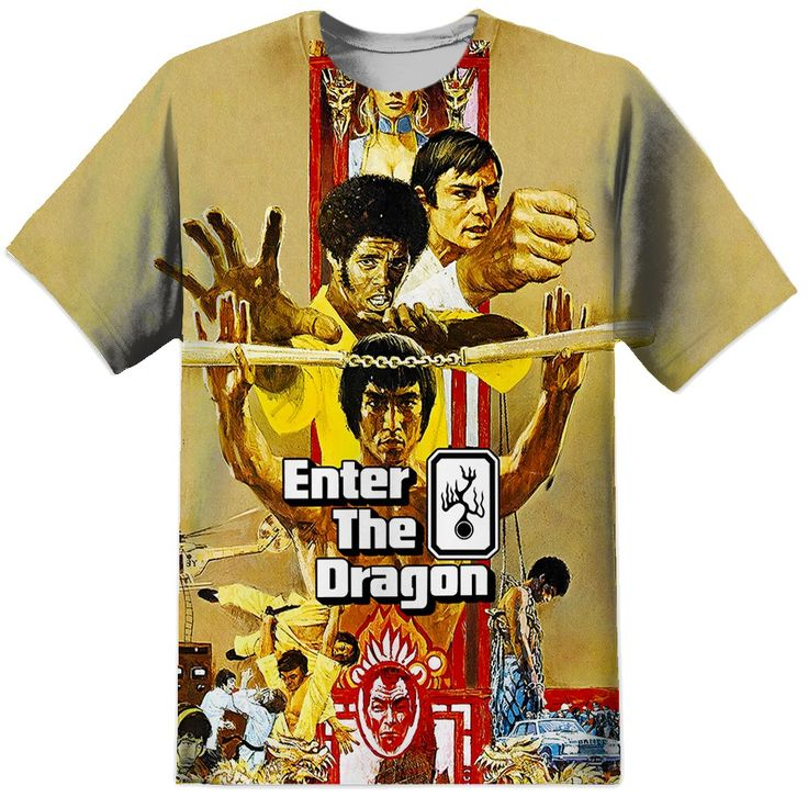 Bruce Lee Enter The Dragon All Over Print T Shirt (Front)