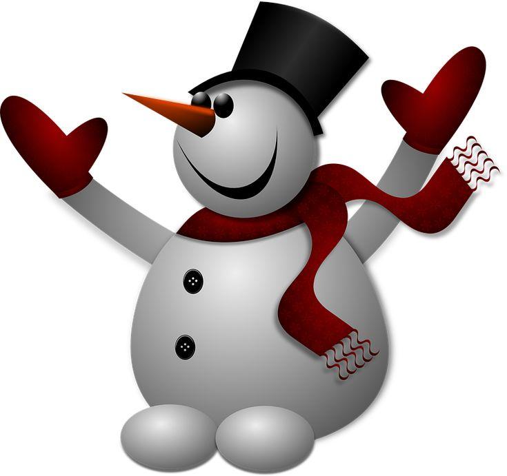 Snowman, Zima, Zimno, Kapelusz, Rękawiczki, Szal