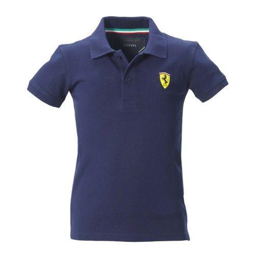 Kid's Ferrari Shield Polo Shirt #ferrari #ferraristore #polo #poloshirt #kids #infant #baby #cavallinorampante #prancinghorse #style #comfort
