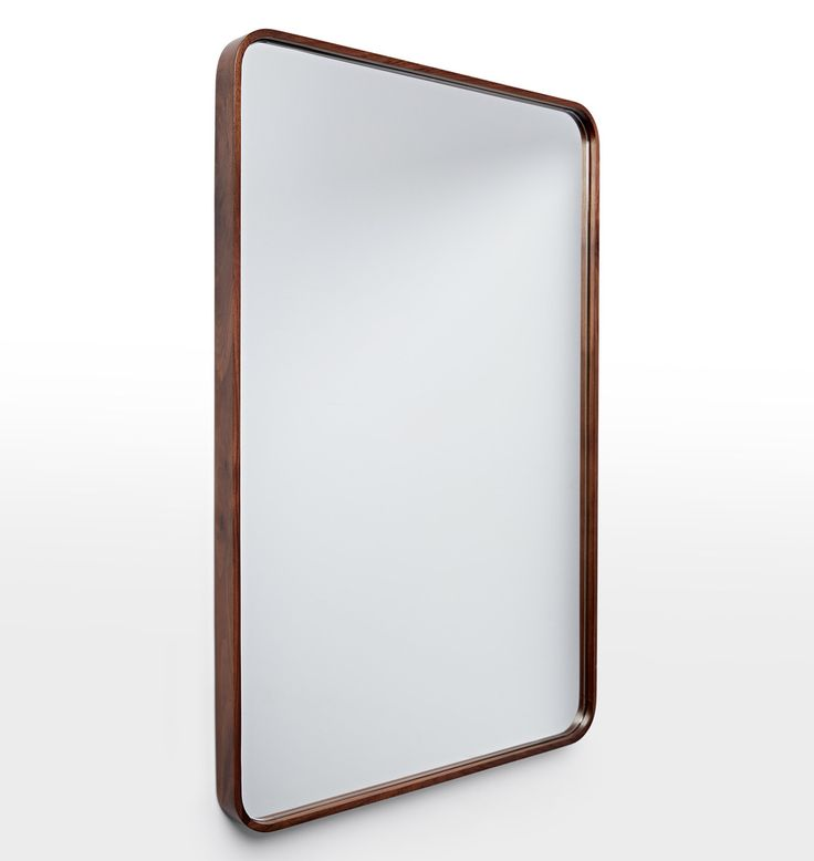24 Quot X 36 Quot Solid Walnut Rounded Rectangle Mirror Master
