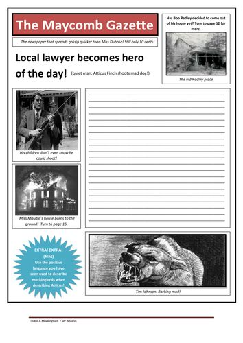 Grade 9 and 10 English Lesson Plans | To Kill A Mockingbird - Scheme of Work. EXCELLENT, detailed lesson plan! [FREE]