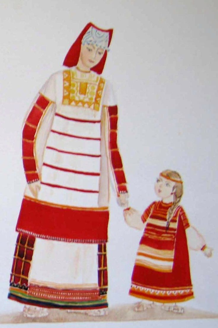 Russian traditional costume from Kursk Province