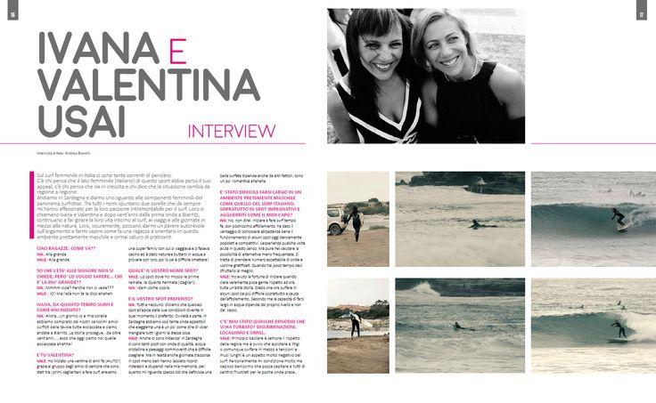 Intervista alle sorelle Usai - pag. 16 - 17  Testo e foto Andrea Bianchi