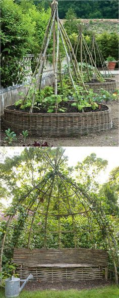 Create enchanting garden spaces with 21 beautiful and DIY friendly trellis and garden structures, such as tunnels, teepees, pergolas, screens and more! - A Piece Of Rainbow #gardendesign