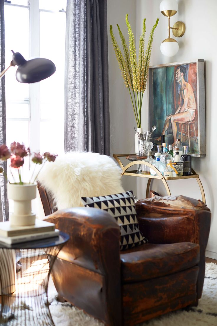 Colourful accent chairs - Brady S Living Room Reveal