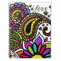 Bold Colorful Flower Love Paisley Kids Art