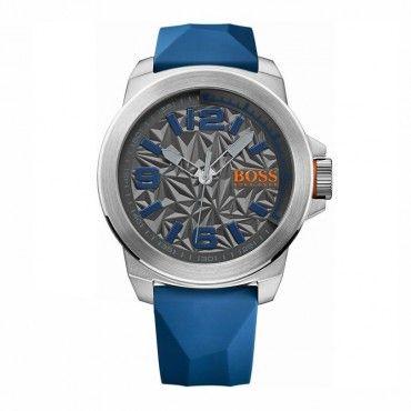 1513355 HUGO BOSS ORANGE   Ανδρικό μοντέρνο ρολόι BOSS ORANGE με γκρι καντράν & μπλε καουτσούκ   HUGO BOSS ρολόγια ΤΣΑΛΔΑΡΗΣ στο Χαλάνδρι #Boss #newyork #σιλικονη #ανδρικο #ρολοι