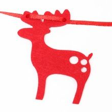 С рождеством баннер войлок баннеры рождество овсянка гирлянда баннер висит фестивалей дома и магазин украшения(China (Mainland))