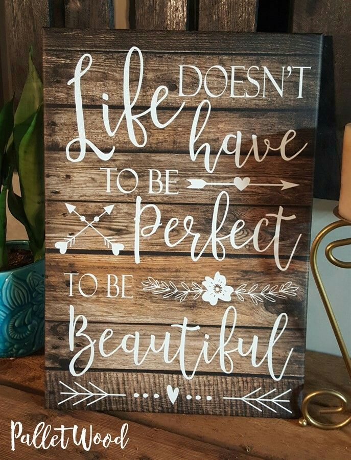 Beautiful Life Pallet Sign. Rustic Home Decor