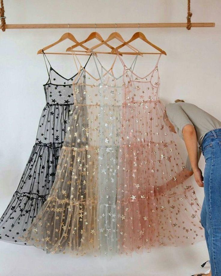 Spaghetti Straps Tulle Long Women's Dresses Fashion Bling Bling Dress – Dres…