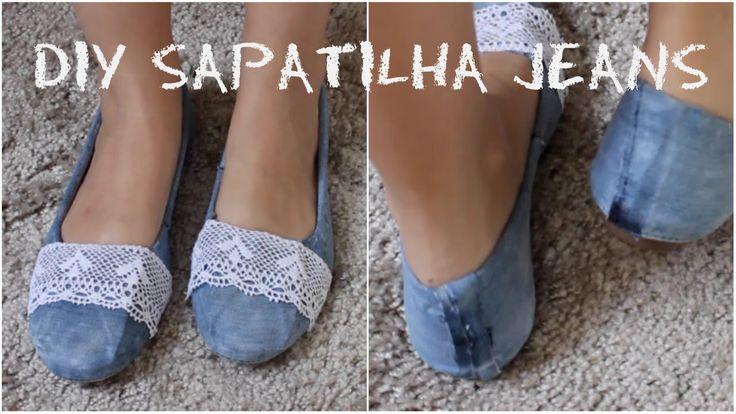DIY: Sapatilha Jeans