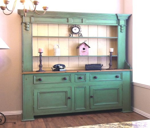 Antique Country Style Hutch Buffet