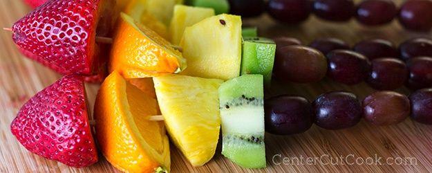 Rainbow Fruit Kabobs - centercutcook.com