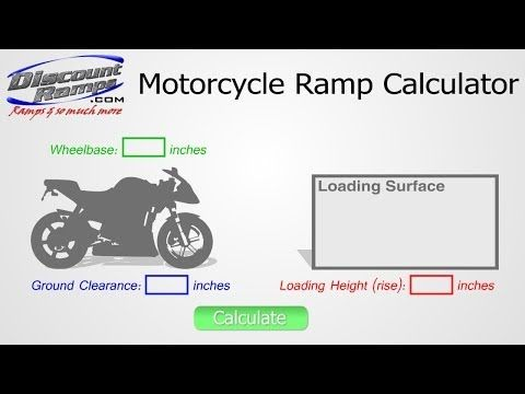 VIDEO: Using the Motorcycle Ramp Calculator | Discount Ramps | How to determine the right length of motorcycle ramp