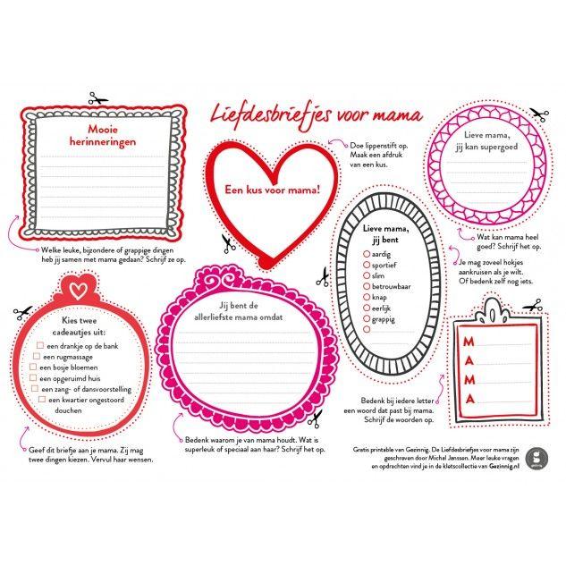 Gezinnig Liefdesbriefjes voor mama | Smoothing family life