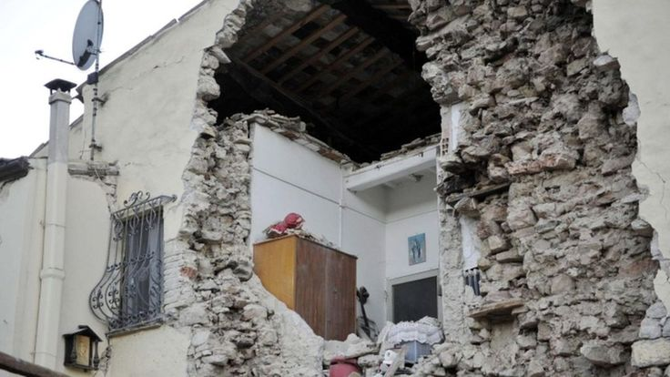 Central Italy is hit by the strongest shock so far since the 30 October earthquake.