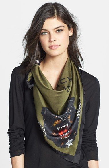 Givenchy 'Rottweiler' Silk Scarf available at #Nordstrom