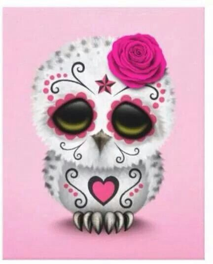 Candy Skull Owl Animals Sugar Skull Owl Sugar Skull