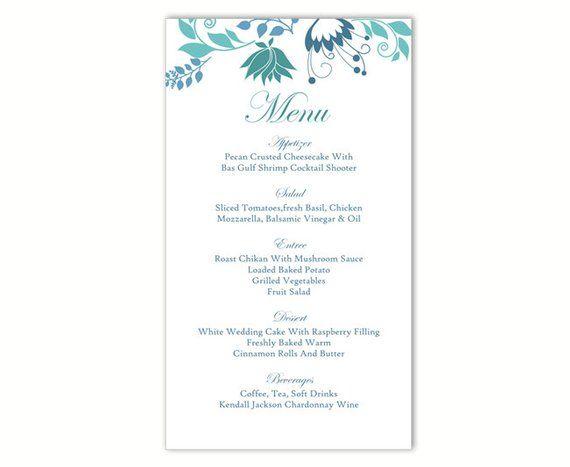Wedding Menu Template Diy Menu Card Template Editable Text Etsy Wedding Menu Template Menu Card Template Diy Menu Cards