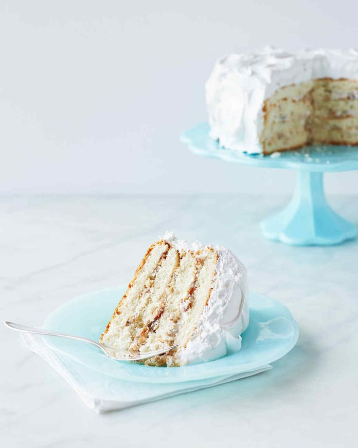 White cake is layered with a fruit and nut filling and slathered with fluffy frosting in this traditional Southern dessert. Martha made this recipe on episode 709 of Martha Bakes.