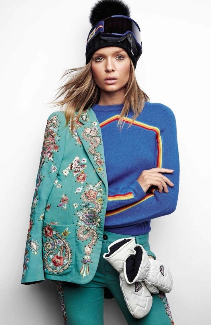 Bella Moda Di Ria: Josephine Skriver Arrives in Style for Her Amazing Fashionable Ski Trip in Vogue Spain`s January 2017 Edition.