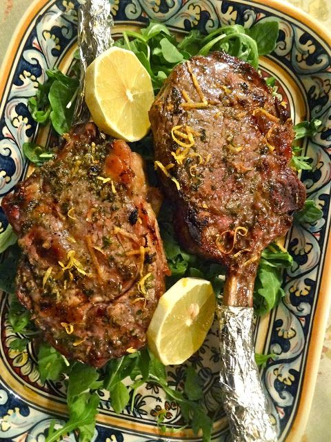 Scrumpdillyicious: Veal Chops with Tuscan-Style Marinade