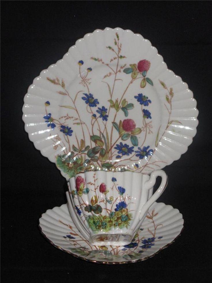 Rare Pre Shelley, Willeman Foley, Alexandra Pattern Trio (3707) - 1884 - 1887.