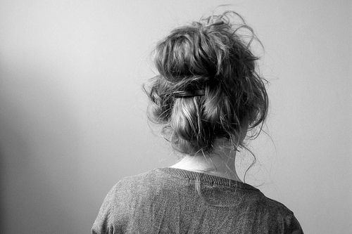 Huge messy curly buns are my loves! Anything that has to do with big hair <3