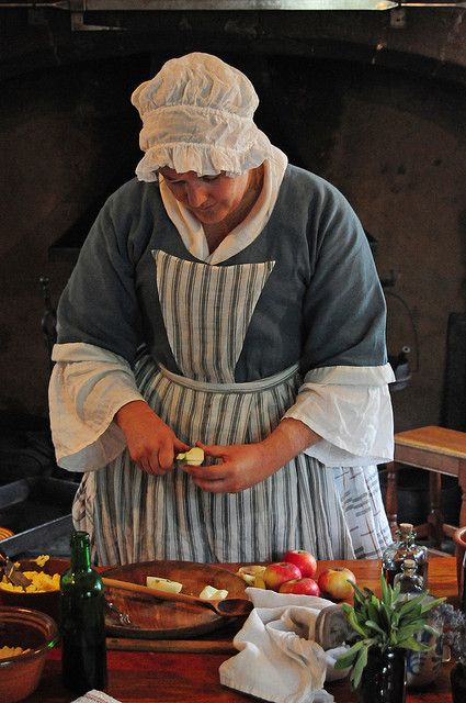 18th century georgian cook preparing food in the kitchen for 18th century cuisine