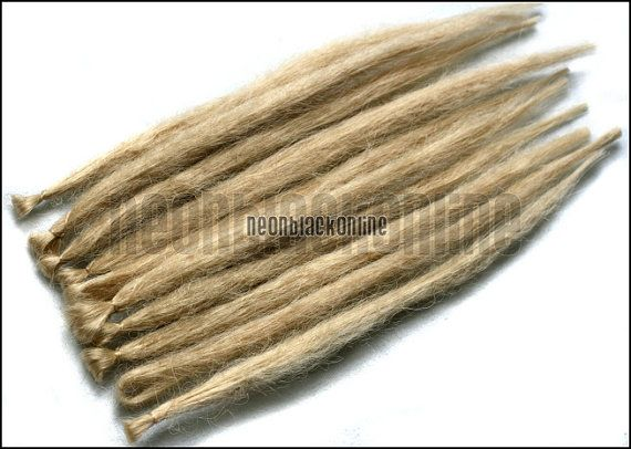 Single ended dread extensions - Blonde natural dreads - set of 10 made to order