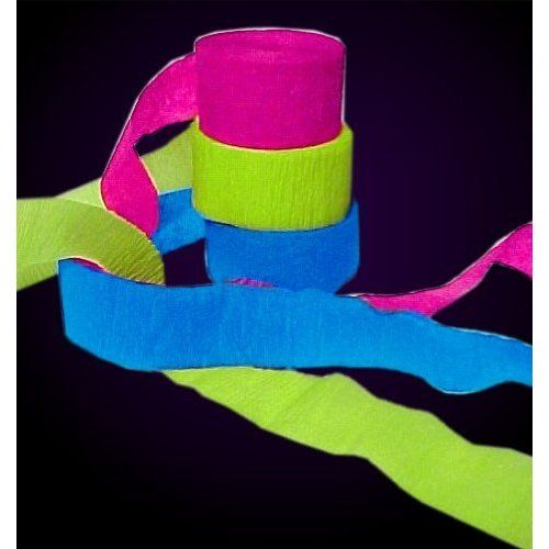 Black Light Reactive Neon Party Streamers #12750: