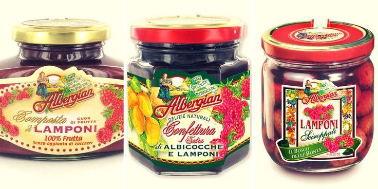 Albergian raspberry delights. The taste of italian food.