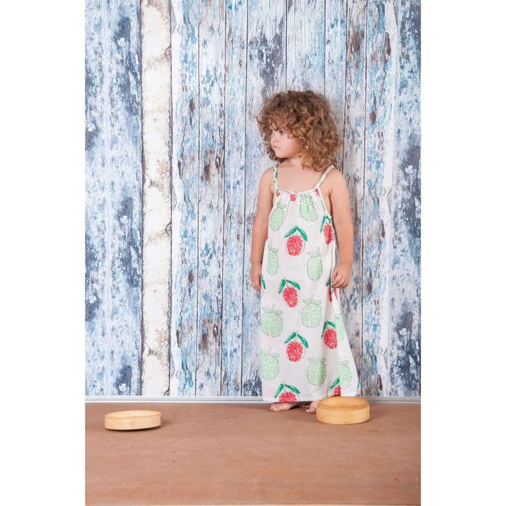 Μακρύ Οργανικό Φόρεμα - Braided Straps Litschi & Mang Cau