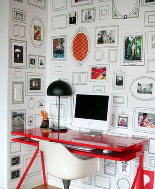 Parede de molduras falsas. | 30 formas incríveis de decorar suas paredes sem gastar quase nada