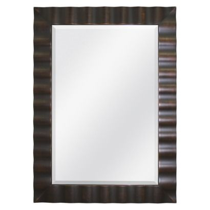 Oil Rubbed Bronze Wavy Mirror 32x44 Bathroom Remodel