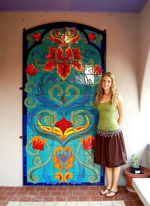 Tile mosaicos mosaico pinterest mosaicos ideas para for Jardines murales