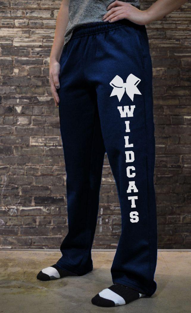 Cheerleading Fleece Sweatpants Team Name With Bow CH-00938