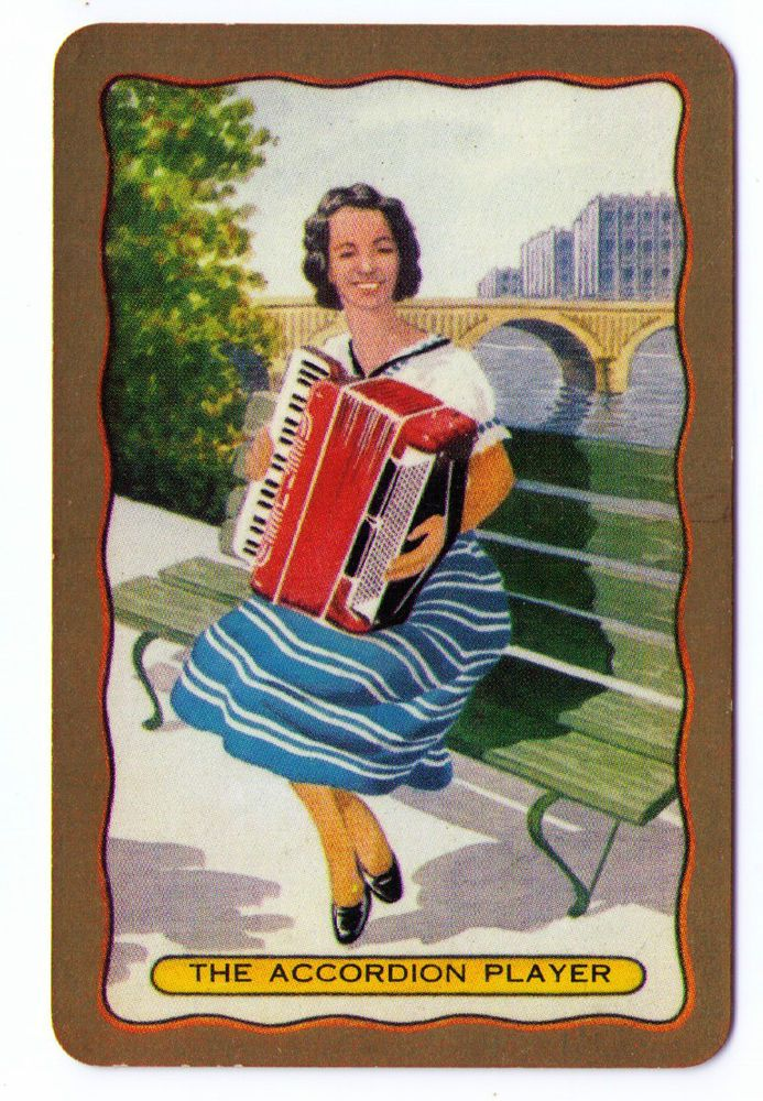 SWAP / PLAYING CARDS COLES NAMED SERIES - PEOPLE OF THE WORLD - ACCORDION PLAYER