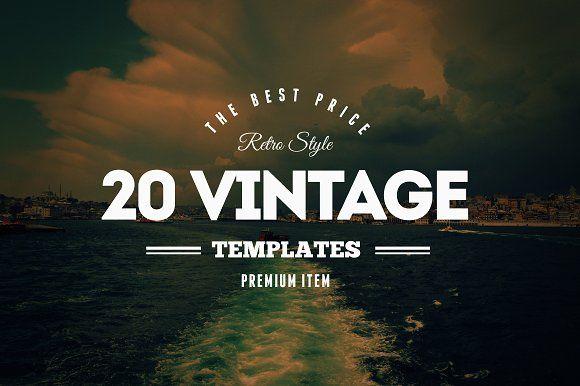 20 Vintage Logos & Badges Vol. 2 by DesignDistrict on @creativemarket