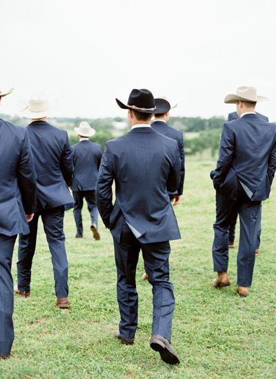Cowboy groomsmen | Jen Dillender