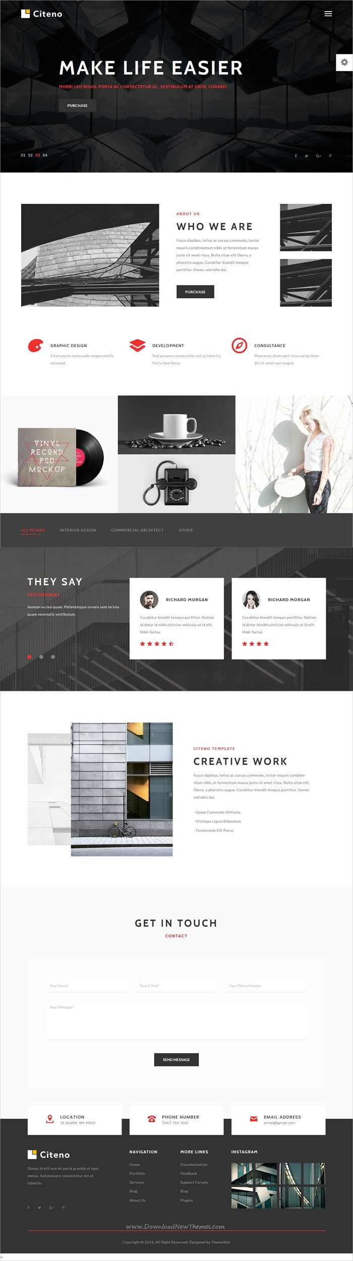 Citeno is a creative &  professional design responsive #HTML bootstrap template for agency, #freelancer and corporate #business websites download now➩ https://themeforest.net/item/citeno-creative-multipurpose-html5-template/19343253?ref=Datasata