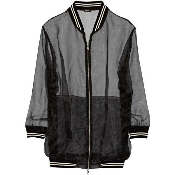 DKNY Oversized organza bomber jacket found on Polyvore ...