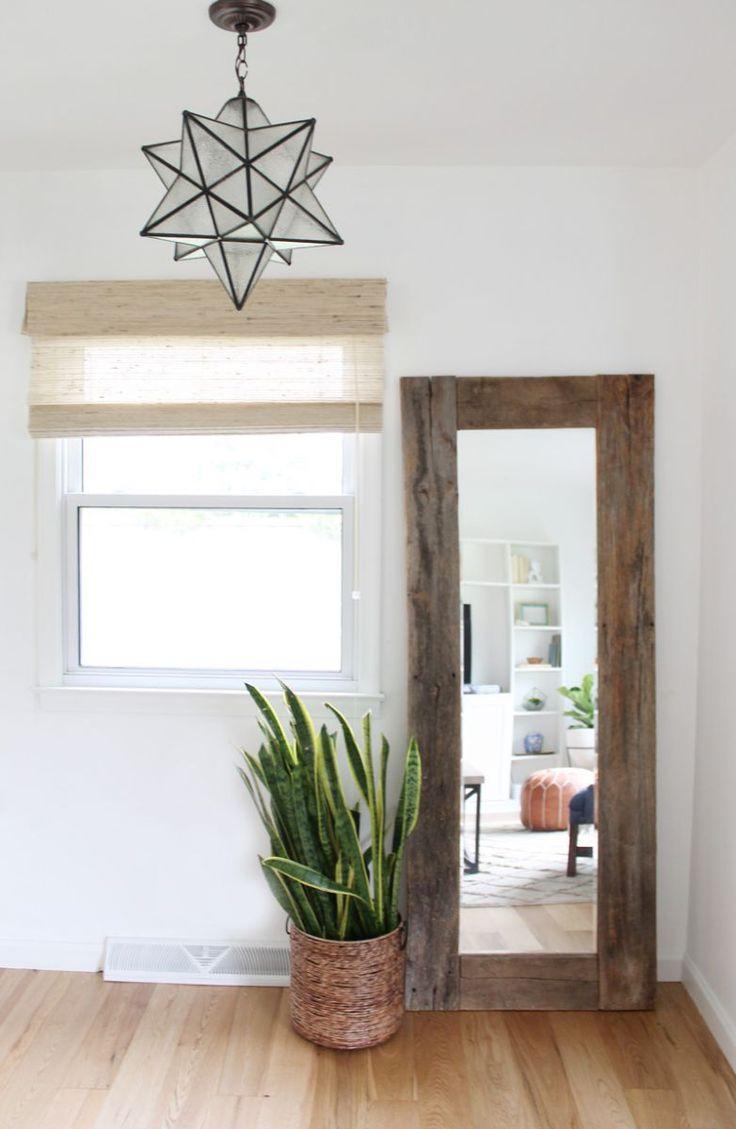 star pendant and full length reclaimed mirror