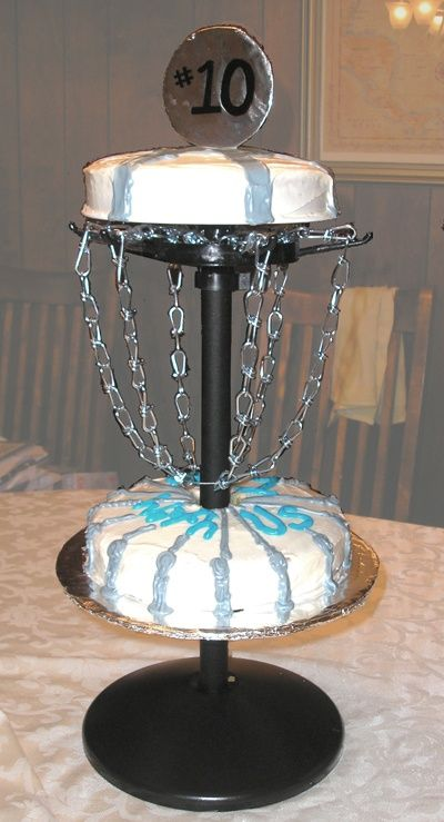 Disc golf cake, i have to make this for my BF!