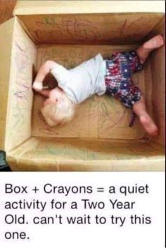 Kids bored from staying home from school too many days in a row? Give them a box & some crayons or markers & let them go at it! Don't have a box big enough to fit them in, give them a few small ones & see what they create. https://www.facebook.com/beautyc