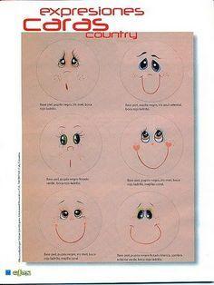 ! ! ABALORIOS Y OTRAS JOYAS ! !: Como pintar caritas y ojos para las fofuchas